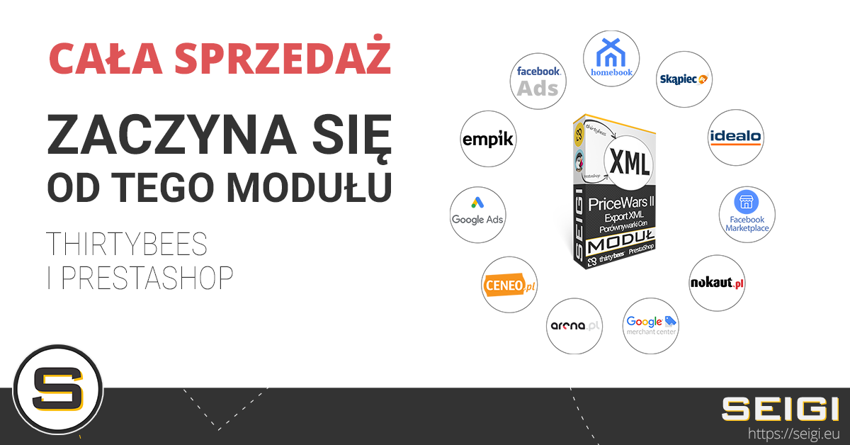 PriceWars II XML dla Prestashop i thirtybees